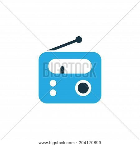 Premium Quality Isolated Tuner Element In Trendy Style.  Radio Colorful Icon Symbol.