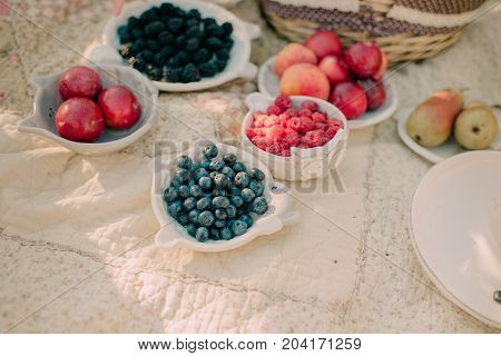 On the nature table is served with berries and fruits