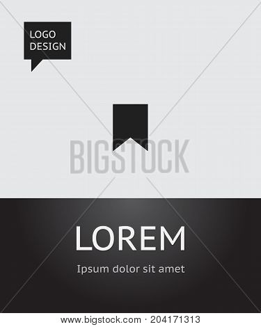 Vector Illustration Of Internet Symbol On Bookmark Icon
