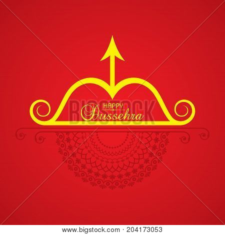 dussehra festival greeting or poster design stock vector
