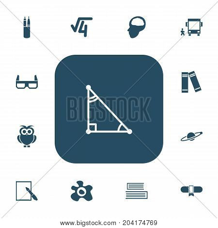 Set Of 13 Editable Science Icons. Includes Symbols Such As Triangle, Award, Astrology And More