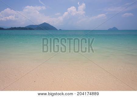 Emerald sea at  Andaman sea thailand .