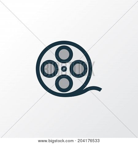 Premium Quality Isolated Filmstrip Element In Trendy Style.  Film Reel Colorful Outline Symbol.