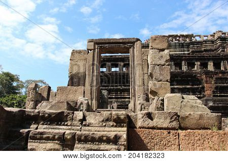 Window Of The Ancient Temple In Cambodia