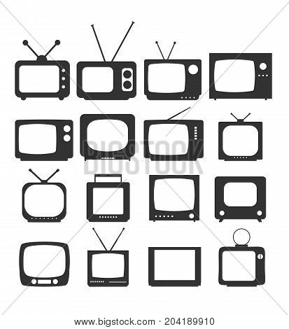 Tv Icon in trendy flat style isolated on white background. Television symbol for your web site design logo app UI. Vector illustration EPS10