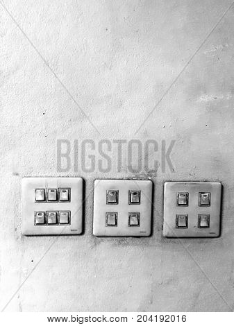 Grayscale switch black white noise technology light