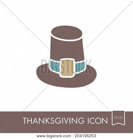 Pilgrim hat icon Harvest. Thanksgiving vector illustration eps 10