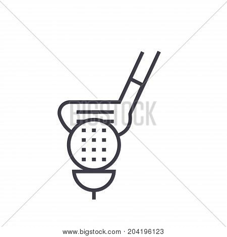 Golf flat line illustration, concept vector isolated icon