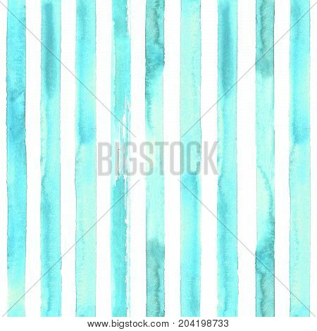Turquoise Striped Seamless Pattern
