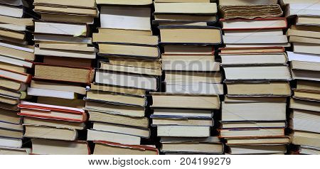 Many books with lots of pages to read during boring moments