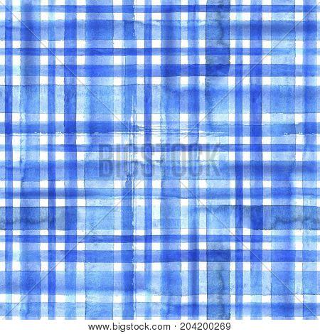 Blue Plaid Seamless Pattern