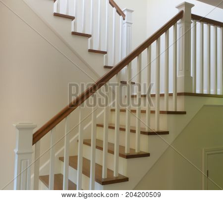 steps stair white painted and hardwood staircase interior stairway
