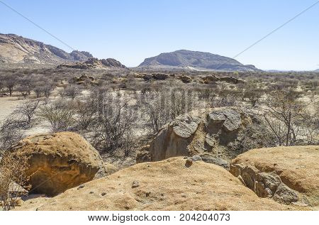 a rocky scenery seen in Namibia Africa
