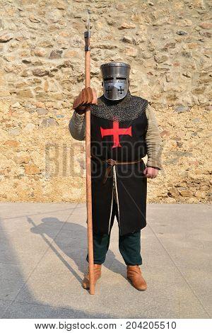 Medieval Festival medieval templar knight warrior reenactor