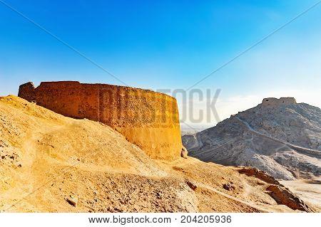 Zoroastrian Tower Of Silence Yazd Iran .