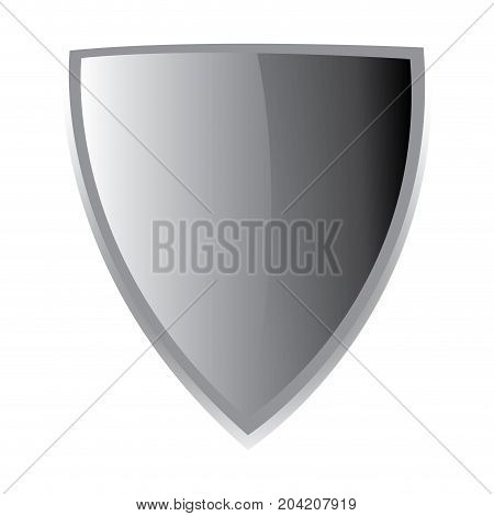 Isolated empty heraldry shield emblem on a white background, Vector illustration
