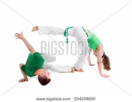 Contact Sport .Capoeira.  sport, over white background