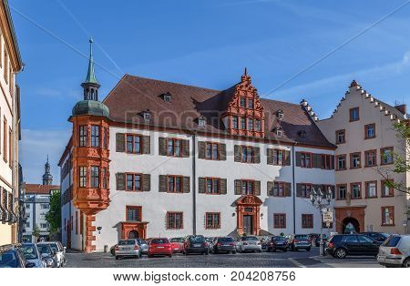 Bischofspalais (Bishop's Palace) in Wurzburg city center Germany