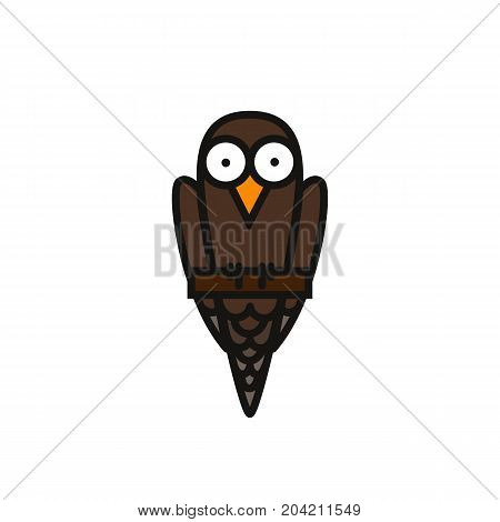 Bird Icon Icon Isolated On White Background. Bird in a cartoon flat style, for web sites, mobile apps and other proet sites. Vector Illustration