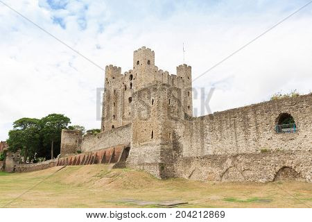 Ancient rochester castle in kent united kingdom england