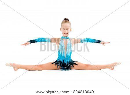 gymnastics  figures over white background ,  isolated,