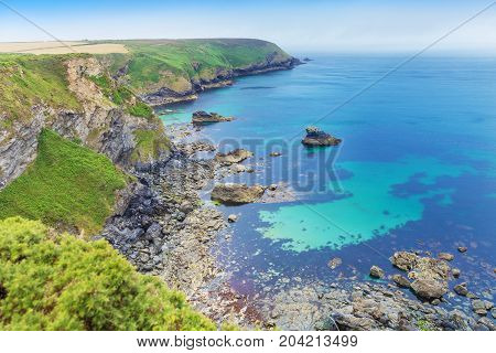 Popular Heritage Coast Atlantic ocean, Cornwall, England, United Kingdom