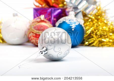 Christmas decoration.embellishment cristmas. Shallow depth-of-field close up