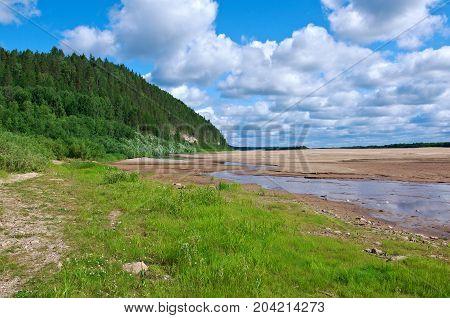 Pinega River In Arkhangelsk Region