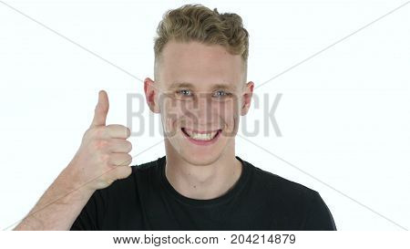 Young Man In Shock Isolated On White Background