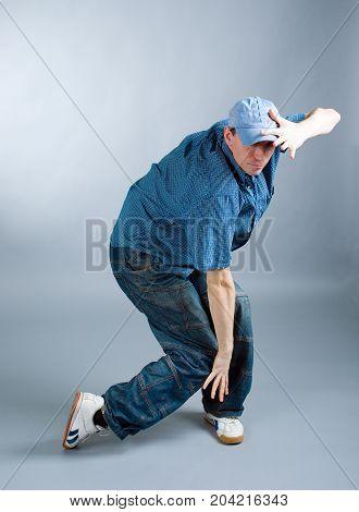Hip-hop Style Dancer Posing. Cool Looking Dancer Posing