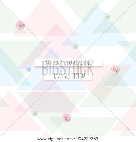 Abstract triangle seamless pattern background. Can be used for business brochure cover design. Vector