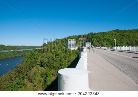 Rappbode dam in Harz mountains in Germany