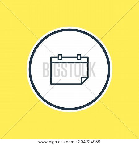Beautiful Education Element Also Can Be Used As Date  Element.  Vector Illustration Of Calendar Outline.