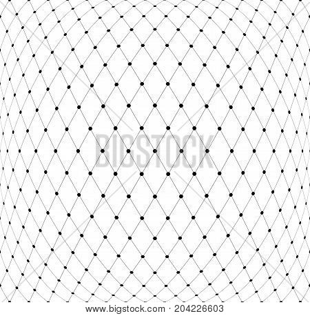 Mesh diamonds 3D pattern. Abstract textured background. Vector art.