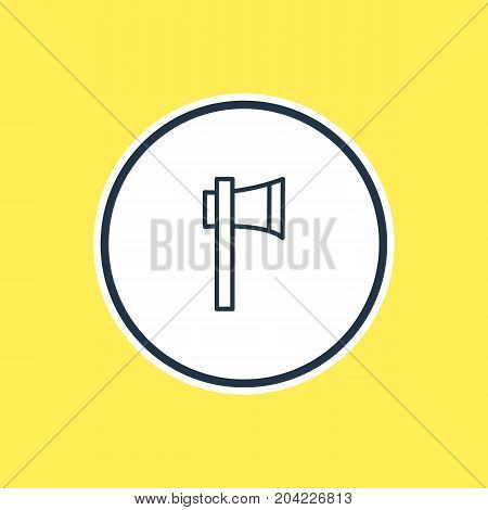 Beautiful Emergency Element Also Can Be Used As Ax Element.  Vector Illustration Of Axe Outline.