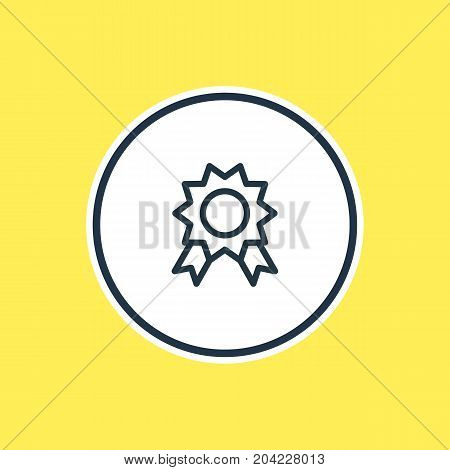 Beautiful Leisure Element Also Can Be Used As Premium Element.  Vector Illustration Of Award Outline.