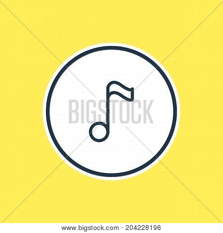Beautiful Joy Element Also Can Be Used As Music Note Element.  Vector Illustration Of Treble Outline.