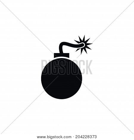 Bomb Vector Element Can Be Used For Explosive, Bomb, Bombshell Design Concept.  Isolated Explosive Icon.
