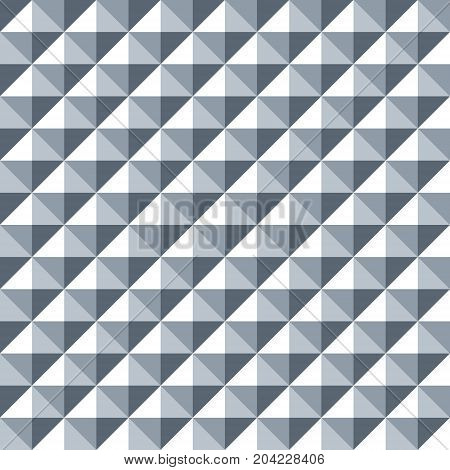 Seamless Diamond Shaped Steel Studded Pattern Background