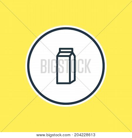 Beautiful Drink Element Also Can Be Used As Paper Box Element.  Vector Illustration Of Pocket Milk Outline.
