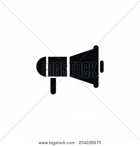 Loudspeaker Vector Element Can Be Used For Loudspeaker, Announcement, Amplifier Design Concept.  Isolated Amplifier Icon.