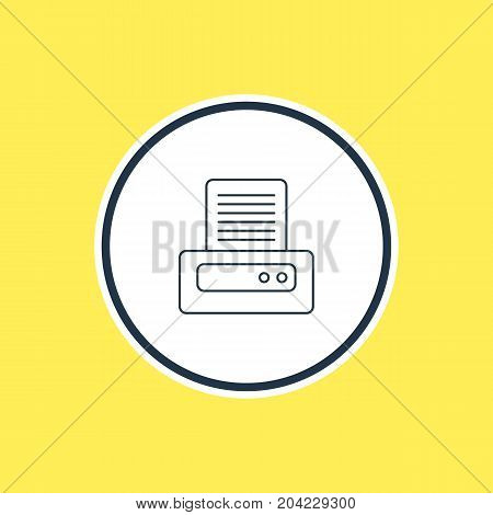 Beautiful Notebook Element Also Can Be Used As Printer Element.  Vector Illustration Of Printout Outline.