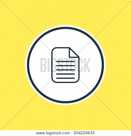 Beautiful Office Element Also Can Be Used As Blank  Element.  Vector Illustration Of Document Outline.