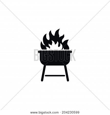 Flame Vector Element Can Be Used For Flame, Cooked, Barbecue Design Concept.  Isolated Cooked Icon.