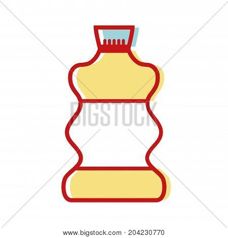 liquit bleach in bottle design to clean vector illustration
