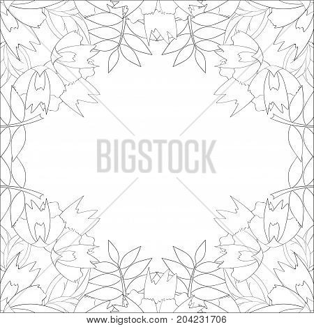 Coloring book page for adults and kids in doodle style. Vector artwork good for art therapy and coloring meditation.