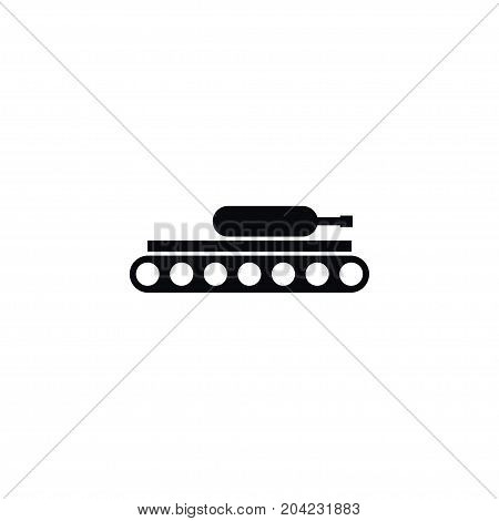 Tank Vector Element Can Be Used For Tank, Army, Panzer Design Concept.  Isolated Army Icon.