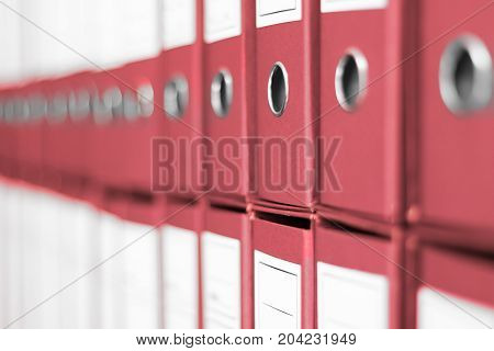 Ring Binders File archive office shelf. Business administration