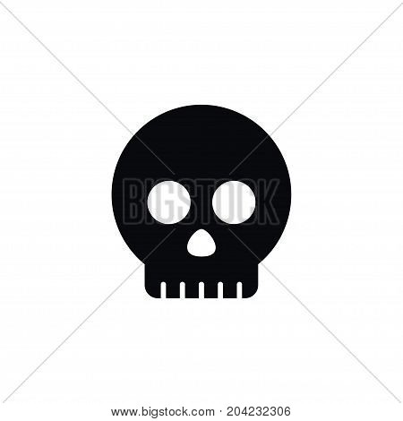 Skeleton Vector Element Can Be Used For Skull, Skeleton, Head Design Concept.  Isolated Head Icon.