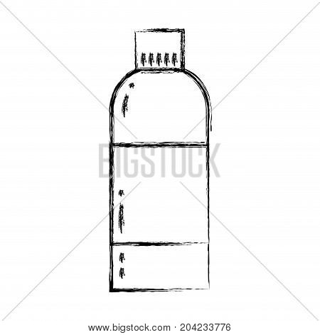 figure liquit bleach in bottle design to clean vector illustration
